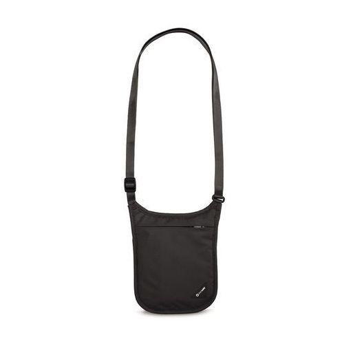 coversafe v75 dyskretny, antykradzieżowy portfel na szyję - czarny - czarny marki Pacsafe