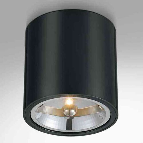 Spot LAMPA sufitowa NEO cromo nero Orlicki Design metalowa OPRAWA downlight tuba czarny chrom, kolor Czarny