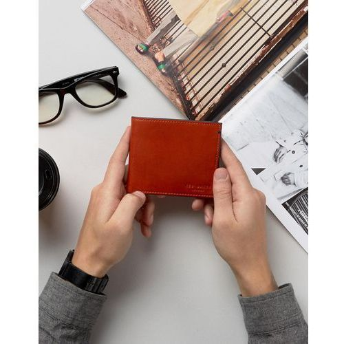Ted baker  wallet in leather with contrast - orange