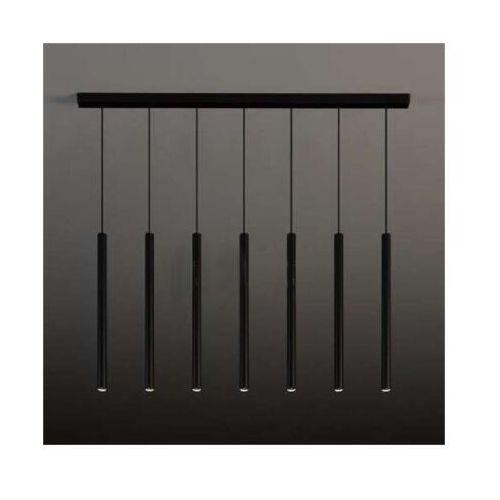 LAMPA wisząca YABU 5529 Shilo metalowa OPRAWA zwis LISTWA sufitowa sople tuby czarne, kolor Czarny