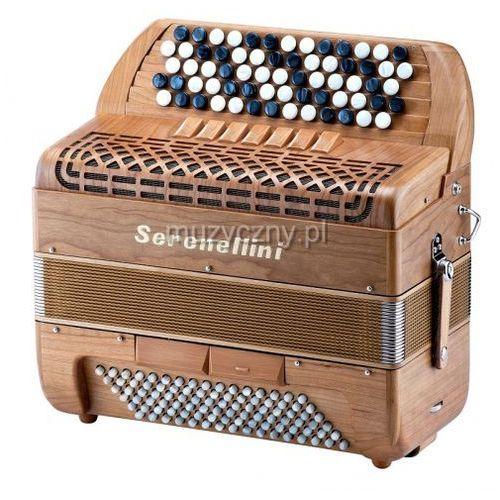 373 mw solid wood 37(67)/3/7 96/4/2 akordeon guzikowy (wykończenie drewniane) marki Serenellini