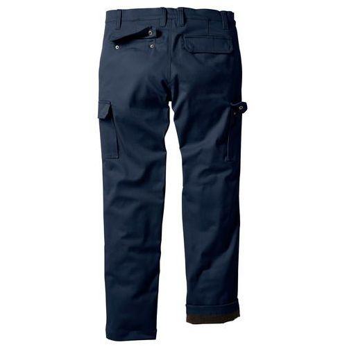Spodnie bojówki ocieplane Regular Fit Straight bonprix ciemnoniebieski, bojówki