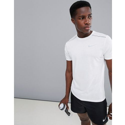 Nike Running Breathe Tailwind T-Shirt In White 892813-100 - White