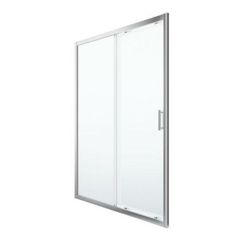 Drzwi prysznicowe przesuwne beloya 140 cm chrom/transparentne marki Goodhome