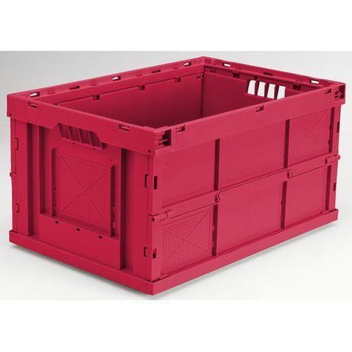 Pojemnik składany z polipropylenu, poj. 63 l, dł. x szer. x wys. 600x400x320 mm, marki Georg utz
