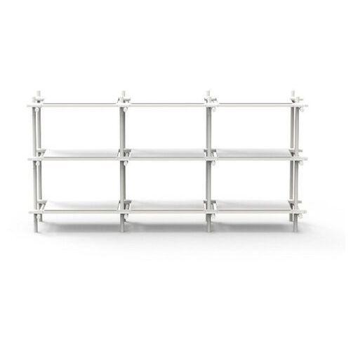Menu - regał stick system 3 x 3 - biały