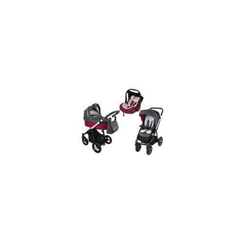 Baby design Wózek wielofunkcyjny 3w1 lupo husky + leo  (czerwony)