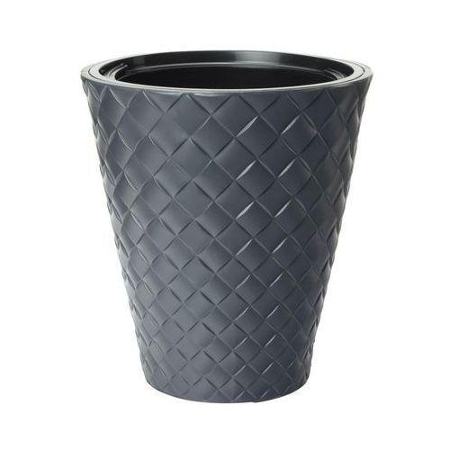 Doniczka plastikowa 29.5 cm antracytowa makata marki Form-plastic