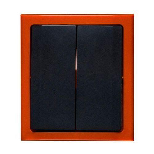 Polmark Włącznik pojedynczy bravo grafit/pomarańcz (5907559869636)