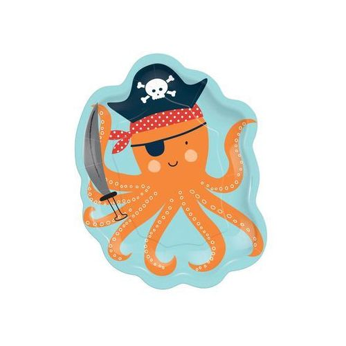 Talerzyki urodzinowe - Ahoy Pirat - 18 cm - 8 szt. (0192937014929)