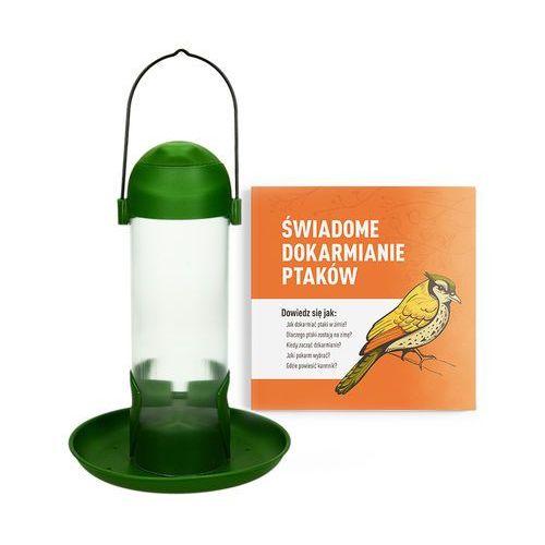 Karmnik dla ptaków wieszany 500ml. Tuba na ziarno dla ptaków.