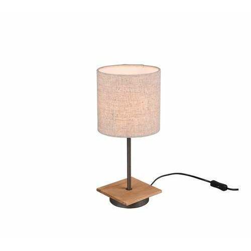 elmau 502100130 lampa stołowa lampka 1x40w e14 niklowa/biała marki Trio