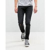 thin captain slim fit jeans snake black - black marki Rollas