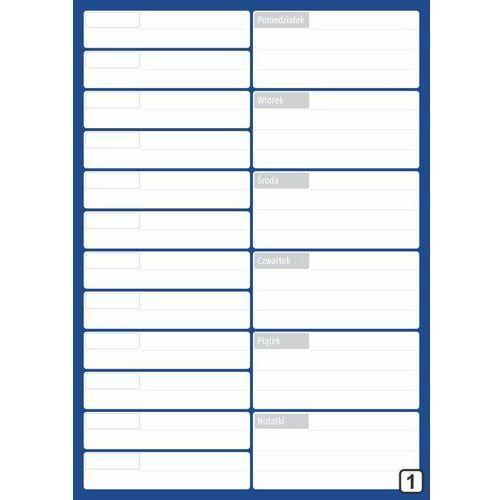 Planer spotkań suchościeralny z kalendarzem tygodniowym 265 marki Wally - piękno dekoracji