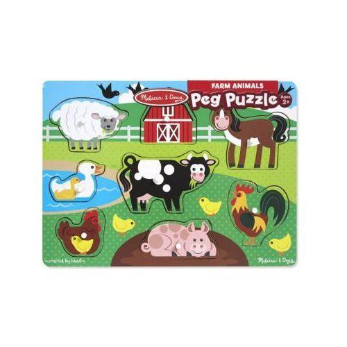Puzzle drewniane MELISSA & DOUG Farm animals 19050