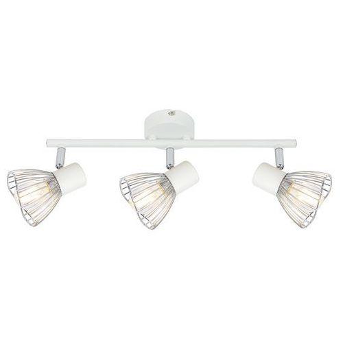 Candellux Fly 93-61973 plafon lampa sufitowa 3x40W E14 biały / chrom, kolor Biały