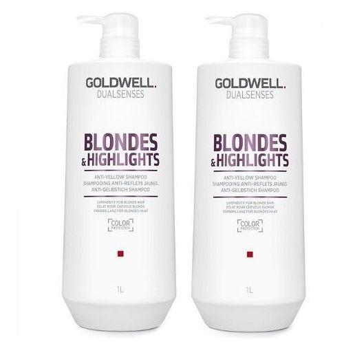 Goldwell blondes and highlights   zestaw: szampon do włosów blond 2x1000ml