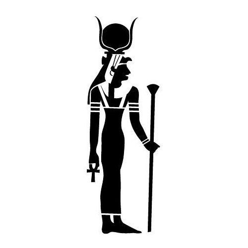 Szablon malarski z tworzywa, wielorazowy, wzór etniczny 26 - egipska bogini hathor marki Szabloneria