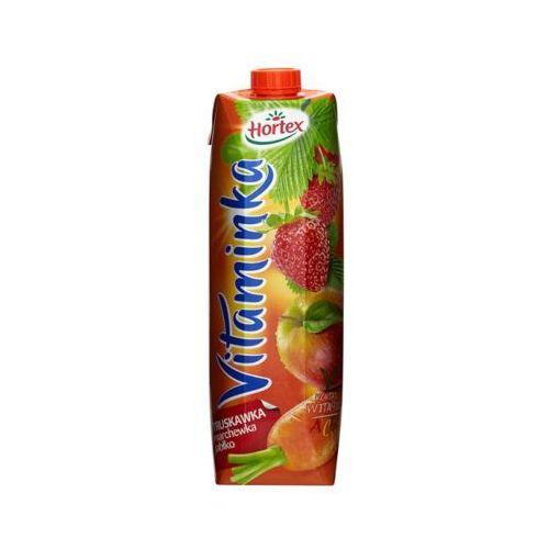 HORTEX 1l Vitaminka Truskawka marchewka jabłko Sok