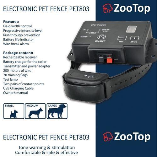 pet803 elektryczny pastuch dla psa z panelem lcd marki Zootop
