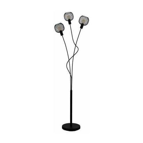 Eglo Wrington 1 43377 lampa stojąca podłogowa 3x40W E14 czarna/szara, kolor Czarny