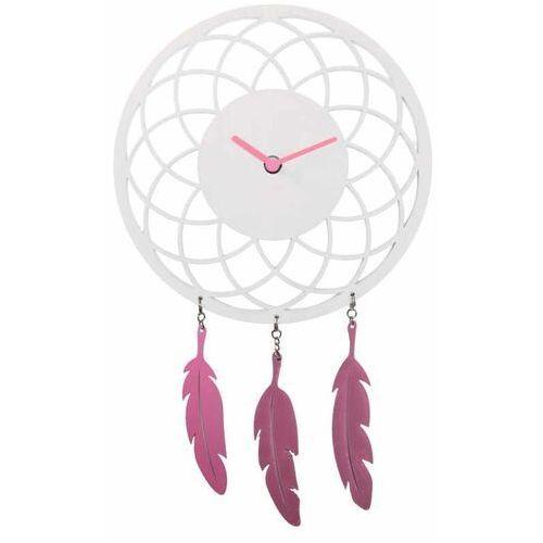 Zegar ścienny Dreamcatcher Nextime biały (3114 WI), kolor biały
