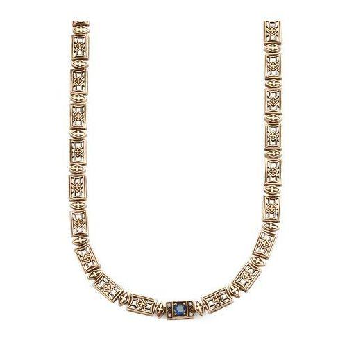 Kolekcja Wiktoriańska - naszyjnik z szafirem i diamentami