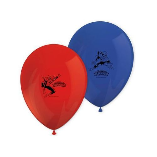 Balony urodzinowe Spiderman Team Up - 8 szt.