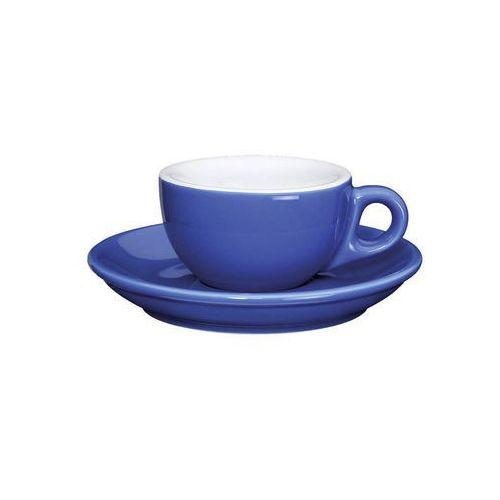 porcelanowa filiżanka do espresso ze spodkiem, 50 ml, ciemnoniebieska, CI-215137 (10956952)