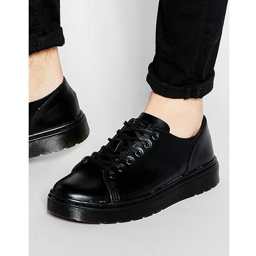 Dr Martens 6-Eye Fusion Trainers In Black Smooth - Black