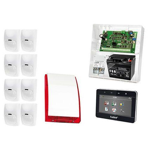 Zestaw alarmowy: płyta główna integra 32, manipulator dotykowy int-tsg-bsb, 8x czujka bingo, sygnalizator zewnetrzny spl-5010 r, akcesoria marki Satel set