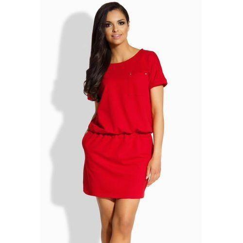 Sukienka Model L201 Red, kolor czerwony