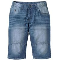 "Bonprix Długie bermudy dżinsowe loose fit niebieski ""medium bleached used"