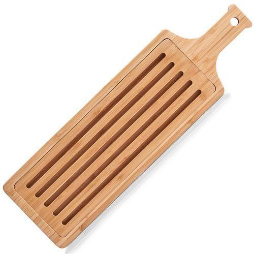 Deska do krojenia z wkładem na okruszki, bambusowe akcesorium kuchenne - 50 x 15 cm, marki Zeller