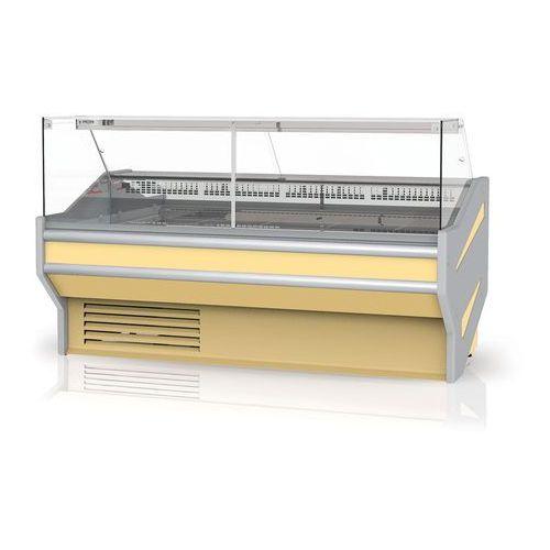 Rapa Lada chłodnicza z szybą prostą, pionową, blatem ze stali nierdzewnej (płótno), 1230x1070x1220 mm | , l-f 123/107