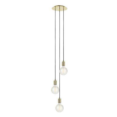 Markslojd Minimalistyczna lampa wisząca sky 106333 metalowa oprawa zwis kaskada przewody kable mosiądz (7330024558458)