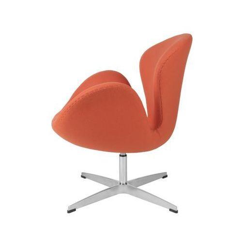 Fotel cup pomarańczowy kaszmir 11 marki D2.design
