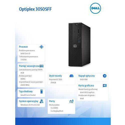 Dell Optiplex 3050sff win10pro i5-7500/256gb ssd/8gb/dvdrw/hd630/ms116/kb216/3y nbd