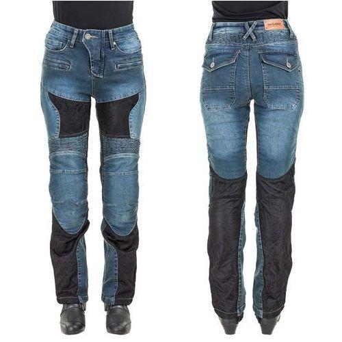 Damskie jeansowe spodnie motocyklowe W-TEC Bolftyna, Niebieski-czarny, XL (8596084048370)