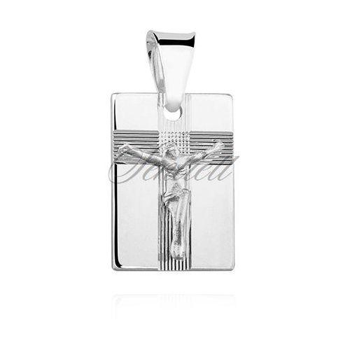 Sentiell Srebrny diamentowany medalik pr.925 jezus na krzyżu