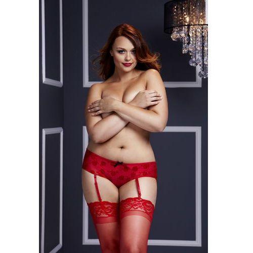 Rozcięte w kroku figi - Baci Open Crotch Boyshort Panty Czerwone