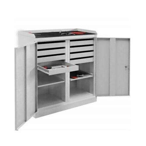 Szafka warsztatowa szw 108 na narzędzia półka wysuwana szuflady marki Malow