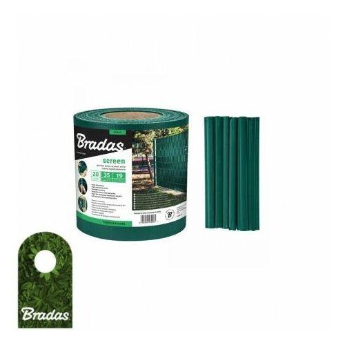 Bradas Taśma ogrodzeniowa balkonowa zielona 19cm x 35m + klipsy 0261 (5907544430261)