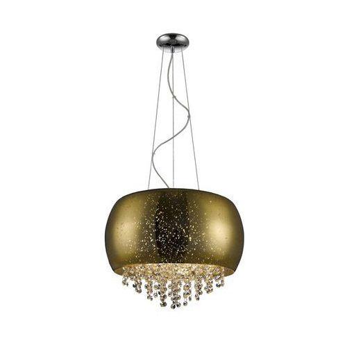 ZUMALINE VISTA LAMPA WISZĄCA LAMP 5*G9 MAX 42W GOLD GLASS SHADE WITH DOTSMETAL CHROME CANOPY P0076-05K (GOLD), kolor Złoty