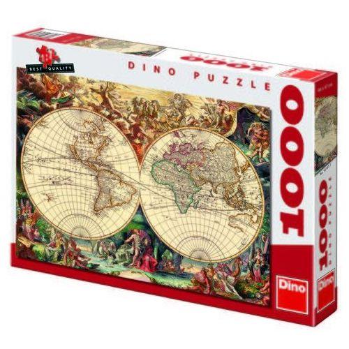 Puzzle 1000 Mapa Historyczna DINO (8590878531857)
