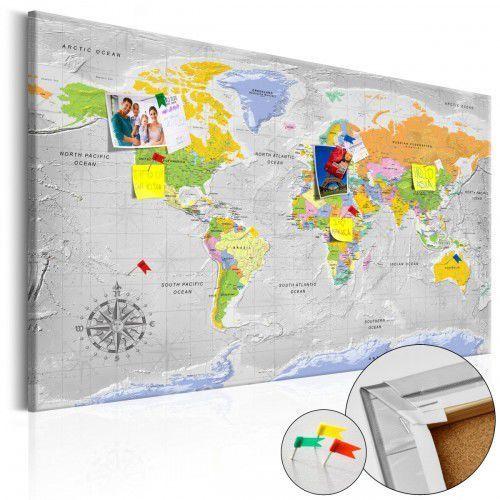 Obraz na korku - Mapa świata: Róża wiatrów [Mapa korkowa], A0-Pinnwand612 (7809799)