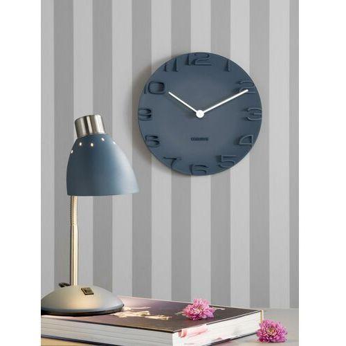 Zegar ścienny on the edge niebieski marki Karlsson