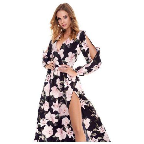 Sugarfree Sukienka penelopa granatowa w kwiaty