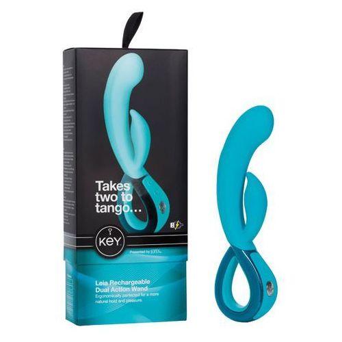 Key Sexshop - wibrator z króliczkiem - by jopen leia rabbit niebieski - online