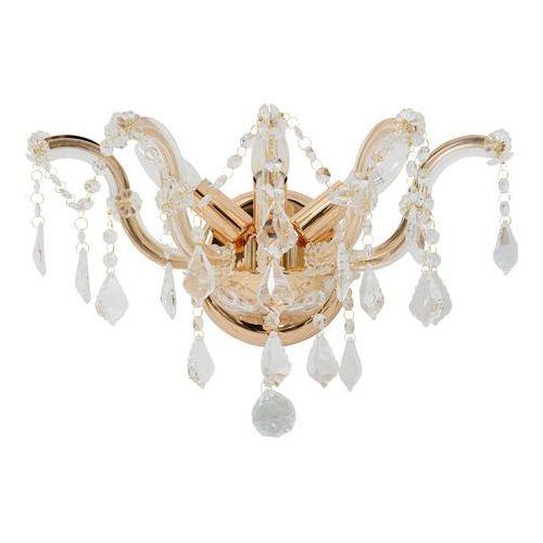 Chiaro Kinkiet potrójny w stylu starofrancuskim, złocony, kryształowy crystal (383020403) (4250369125067)